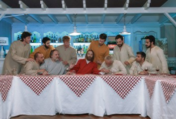 L'ultima cena - Foto dal set del film 'OH MIO DIO!'